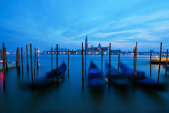 Venetian gondolas in motion blur Stock Image