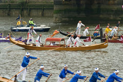 Venetian Gondolas at the Thames Pageant Stock Photography