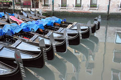 Venetian Gondolas in Venice Stock Photos