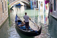 Venetian Gondolier Royalty Free Stock Photo