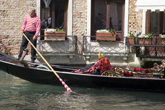 Venetian gondolier Stock Photo