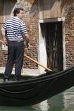 Venetian gondolier Royalty Free Stock Image