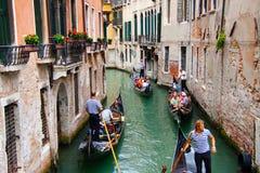 Venetian Gondoliers Stock Photos