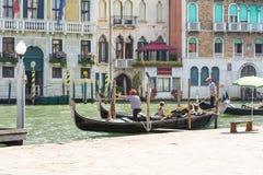 Venetian gondoliers Royalty Free Stock Photos