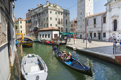 Venetian gondoliers Stock Photos