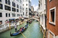 Venetian gondoliers Stock Photography