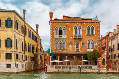 Venetian Gothic Palace on Grand canal, Venice Stock Photo