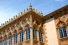 Venetian Gothic Windows Stock Photography