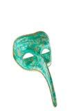 venetian grön maskering för guld royaltyfri foto