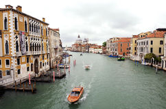 Venetian gran canal view Stock Images