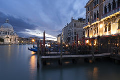 Venetian Grand Canal at Night Stock Photography