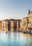 Venetian Grand Canal scene, Italy Royalty Free Stock Images