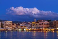Venetian habour of Chania, Crete, Greece Royalty Free Stock Photos