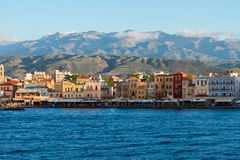 Venetian habour of Chania, Crete, Greece Stock Photos
