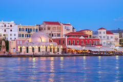 Venetian habour of Chania, Crete, Greece Stock Photos
