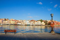 Venetian habour of Chania, Crete, Greece Royalty Free Stock Photo