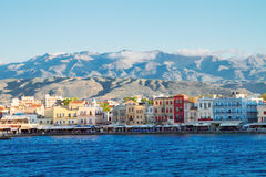 Venetian habour of Chania, Crete, Greece Royalty Free Stock Photos