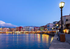Venetian habour of Chania, Crete, Greece Stock Photo
