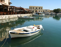 Venetian harbour. View of Venetian harbour of Rethymnon (Crete, Greece Stock Photos