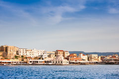 Venetian harbour in Chania Stock Image