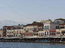 Venetian harbour in Chania Stock Photos