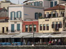 Venetian harbour in Chania Royalty Free Stock Images