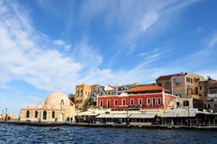 Venetian harbour in Chania Stock Photography