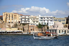 Venetian harbour in Chania, Greece Stock Photo