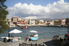 Venetian harbour in Chania, Greece Stock Image