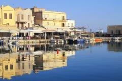 Venetian Harbour at Rethymno, Crete, Greece Royalty Free Stock Photos