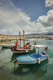 The Venetian Harbour at Rethymno, Crete, Greece. Stock Images