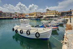 The Venetian Harbour at Rethymno, Crete, Greece. Royalty Free Stock Image