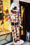 Venetian Harlequin Stock Photo