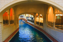 Venetian Hotel Canal Royalty Free Stock Image