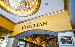 The Venetian Hotel and Casino lobby Stock Photo