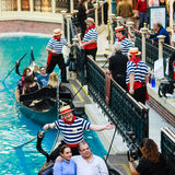 Venetian Hotel Grand Canal Stock Image