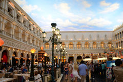 Venetian Hotel Las Vegas. Image of the Grand Canal Shoppes at the Venetian Resort Hotel Casino in Las Vegas Stock Photography