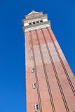 Venetian Hotel  in Las Vegas, Realistic replica tower of St Mark Stock Image