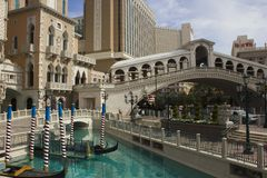 The Venetian Hotel in Las Vegas, Rialto Bridge Stock Images