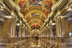 The Venetian Hotel's Colonnade Royalty Free Stock Photo