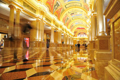 The Venetian Hotel's Colonnade Royalty Free Stock Photos