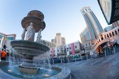 The Venetian hotel in Vegas with Rialto Bridge. Las Vegas, United States - March 27, 2015:  The Venetian hotel square and Rialto Bridge Stock Photo