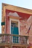Venetian Hotel. Worn fasade of hotel in Venice Stock Photography