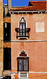 Venetian house with pointed arch windows Royalty Free Stock Photos