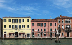 Venetian houses. Venice,Italy,July 28th 2011: Image of colorful venetian houses near the Grand Canal, the biggest waterway of the city.Venice is a special city Stock Image