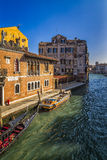 Venetian Houses and Boats, Italy Royalty Free Stock Image