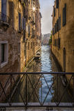 Venetian Houses and Boats, Italy Stock Photo
