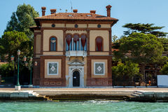 Venetian houses Italy. View from sea Royalty Free Stock Photos