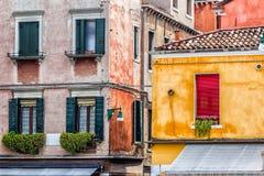 Venetian Houses. Italy. Detail of old venetian walls Stock Images