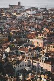 Venetian houses and rooftops of Venice at Sunset stock photography